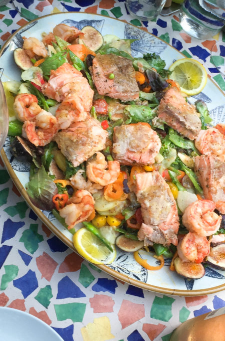 Salmon and Shrimp Salad: The perfect lazy summer dinner.