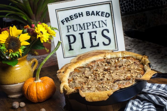 Fall flavors come together in this Praline Pumpkin Pie--a Southern classic with a spike of Louisiana. (All photos credit: George Graham)