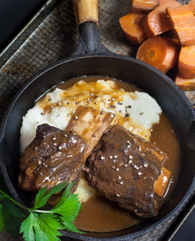 These Short Ribs with Coffee Gravy are a shortcut to a delicious dinner.