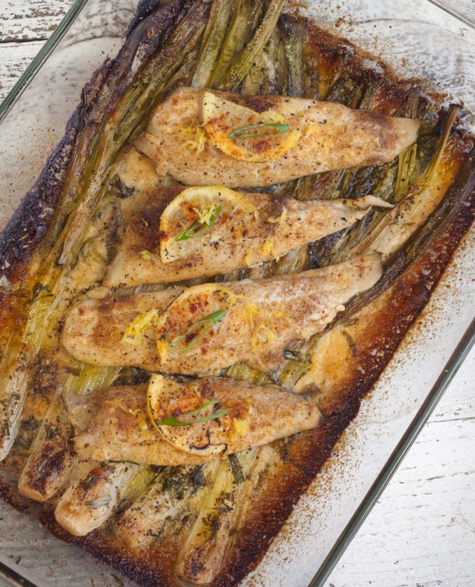 Spring onions are the springboard for the creamy herbs that elevate this Baked Flounder with Spring Onion Gratin to new heights.