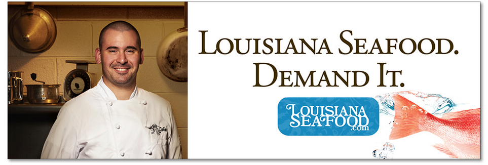 Linking with chefs from across the state, a series of online banners reminds consumers to buy Louisiana Seafood.