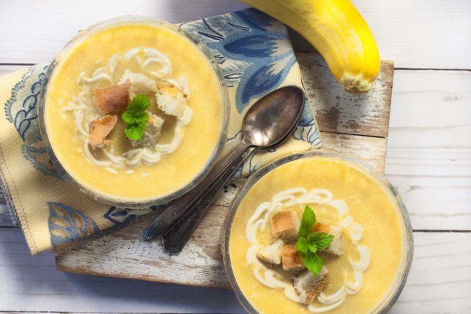 With just a kiss of spice, the bright vegetable flavors shine in the Summer Squash Soup. (All photos credit: George Graham)