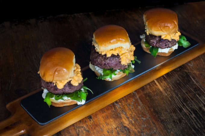 Richly marbled Wagyu beef, is the star of this slider sitting atop a brioche bun. (All photos credit: George Graham)