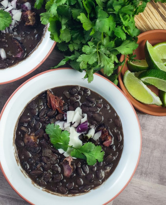 Spicy and creamy, this Black Bean Soup recipe is easy.