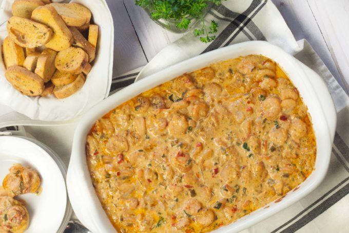 Spicy, creamy with the flavor of Gulf seafood, this Hot Cajun Shrimp Dip is a tasty party dish. (All photos credit: George Graham