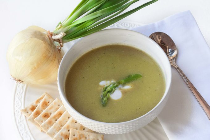 Springtime in a bowl—fresh Asparagus Soup. (All photos credit: George Graham)