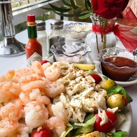 Chilled Seafood Salad with Two Dressings