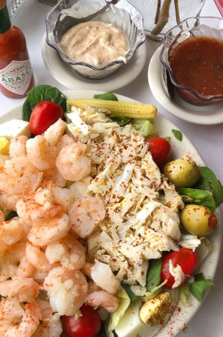Gulf shrimp and crabmeat take center stage in this classic salad combination. (All photos credit: George Graham)