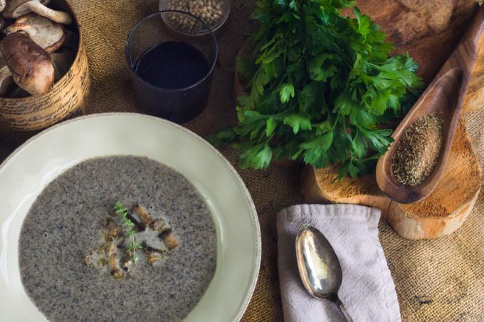This hearty Mushroom Soup packs a heavy dose of flavor. (All photos credit: George Graham)