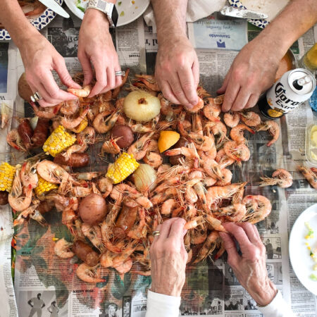 A spicy shrimp boil is one of the best ways to enjoy Louisiana shrimp. (Photo credit: George Graham)