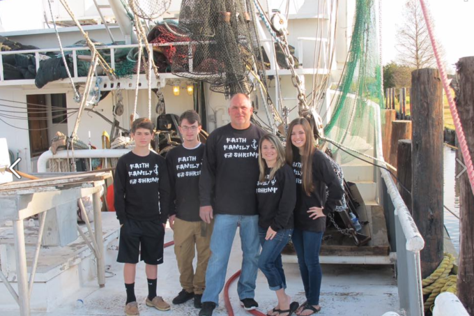 The Portier's of Faith Family Shrimp Co. located in Chauvin, LA. (Photo credit: Faith Family Shrimp)